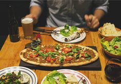Breakaway from the traditional with Lebanese pizza.