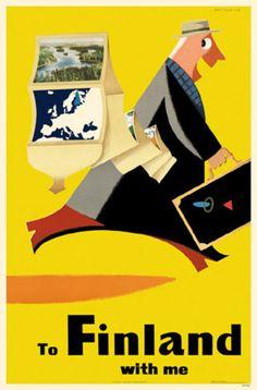 Vintage travel poster - Finland
