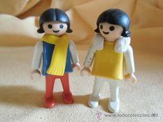 pareja de niñas playmobil geobra 1981