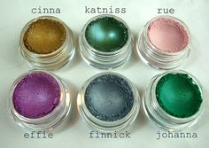 Hunger Games inspired mineral eyeshadow? Yes, please. FYI, these can also be combined with NAIL POLISH if you wanna get real crazy.     Love me some Cinna.