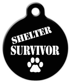 Shelter Survivor Cat or Dog ID Tag