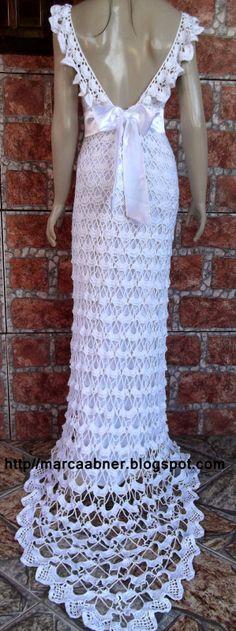 Marcinha крючком: вязание крючком платья
