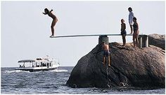 """High dive at """"the point"""", Money Island, CT"""
