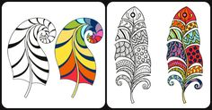 Increíbles laminas XXL para colorear y trabajar la atención Feather Clip Art, Playing Cards, Wooden Stools, Education, Home, Happy, Positive Thoughts, Mosaics, Shapes