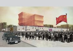 National Art Museum of China Competition Entry. OMA 2011.