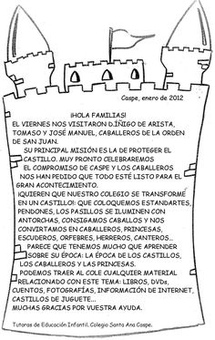Recursos Infantiles: Proyecto de Castillos School Items, Middle Ages, Coloring Pages, Castle, Language, Teaching, History, Grade 2, Fairy Tail