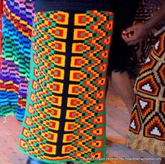 Beautiful 'bilum'-design skirts