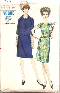 Vogue 6917. Love the shoulder gathers.