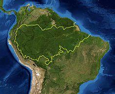 Mapa da eco região amazônica