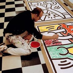 Keith Haring Studio by Baptiste Lignel Best Graffiti, Graffiti Art, Artist Art, Artist At Work, Jm Basquiat, Keith Haring Art, Pittsburgh, Wow Art, Arte Pop