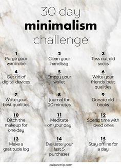 The 30 Day Minimalism Challenge