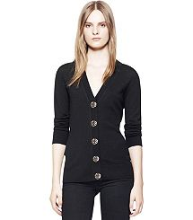 really love this Tory burch sweater: SIMONE CARDIGAN black with gold buttons size xs