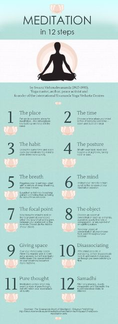 Meditation in 12 Steps #meditation