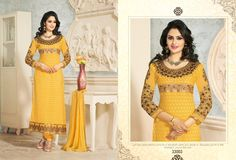 Georgette yellow suit upto on Delivery at Rs 99 extra Yellow Suit, Only Sale, Cheap Deals, Suits For Sale, Straight Cut, Fashion Accessories, Sari, Elegant, Delivery