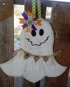 Burlup ghost door hanger..