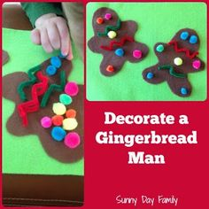 Decorate a Gingerbread Man: Busy Bag Activity for Toddlers. Easy, DIY Christmas Fun! {Sunny Day Family}