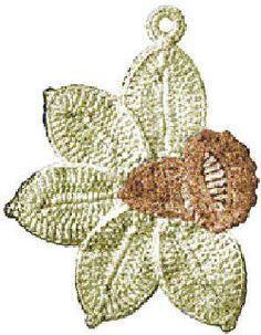 Daffodil Flower Trivet or Potholder Vintage Crochet Pattern for download