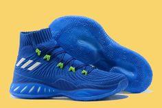 b45ec5a1d37a Andrew Wiggins New adidas Crazy Explosive 17 Blue Volt Green Cool Adidas  Shoes