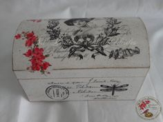 Todo transfer Decoupage Furniture, Decoupage Box, Decoupage Vintage, Vintage Box, Shabby Vintage, Wooden Jewelry Boxes, Wooden Boxes, Decoration Shabby, Painted Boxes