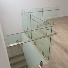 Glass Stairs Design, Balcony Glass Design, Glass Balcony Railing, Stair Railing Design, Steel Stairs, Steel Railing, Balustrades, Glass Balustrade, Stainless Steel Stair Railing