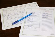 Monthly and Weekly Menu Planners {Free Printables} The temple will work for my family. I will add some things.