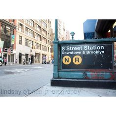 New York City Photography: New York Subway Sign Print 8x10 Matted... ($20) ❤ liked on Polyvore