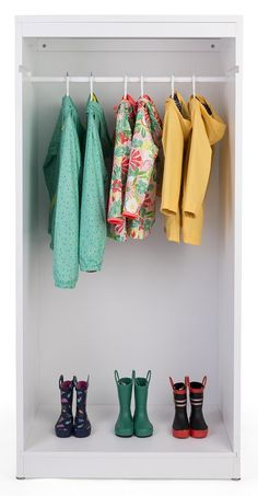 Hang clothes in an open retail garment armoire display for a modern and fashionable store arrangement. Let provide fixtures for your boutique! Retail Clothing Racks, Clothing Displays, Retail Fixtures, Store Fixtures, Modern Store, Clothes Drying Racks, Hanging Rail, Storage Spaces, Armoire