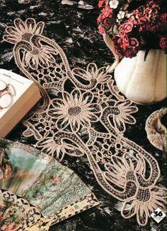 Romanian Point Lace in Magic Crochet magazine № Thread Crochet, Crochet Motif, Crochet Doilies, Crochet Lace, Knitting Magazine, Crochet Magazine, Macrame Patterns, Crochet Patterns, Embroidery Patterns