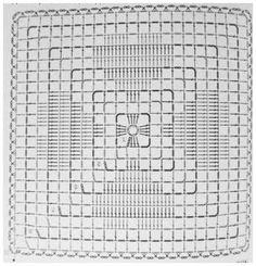 33 trendy Ideas for crochet pillow triangle granny squares Crochet Squares, Crochet Doily Diagram, Crochet Motifs, Granny Square Crochet Pattern, Crochet Blocks, Crochet Chart, Filet Crochet, Crochet Stitches, Crochet Patterns