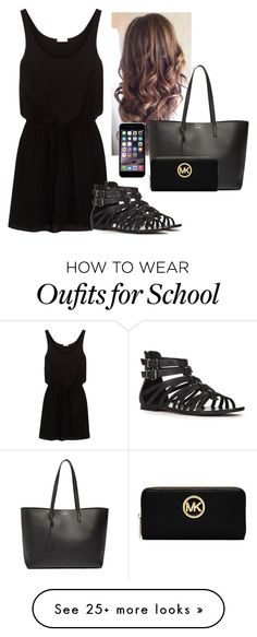 """Untitled #2522"" by hannahmcpherson12 on Polyvore featuring Splendid, JustFab, Yves Saint Laurent and MICHAEL Michael Kors"
