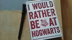 Already had my journal from last summer but now with my harry potter wand pen I'm ready to continue writing everyday day. 😍❤😉😚