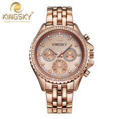 Watch Women Quartz watch New Arrival KINGSKY Women New Casual Watches Rose Gold Brand Famous Japan Quartz Fashion Reloj Mujer-in Women's Watches from Watches on Aliexpress.com | Alibaba Group