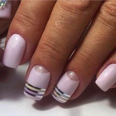 Beautiful delicate nails, Exquisite nails, Gentle half moon nails, Half-moon…