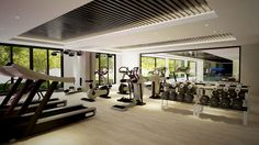 modern fitness center design - Google Search