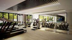 modern fitness center design - Google Search