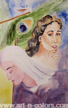 Love and Devotion Painting by Geeta Biswas at Art-n-Colors.