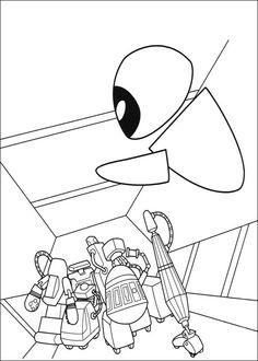 Wall-E Tegninger til Farvelægning. Printbare Farvelægning for børn. Tegninger til udskriv og farve nº 17