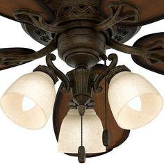 Hunter 'Crown Park' Tuscan Gold/ Roasted Cherry 54-inch Ceiling Fan