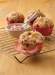 There's only one way that these warm, homemade streusel muffins could be even better. With lots of creamy strawberry butter.