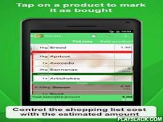 Shopping List - TuLista  Android App - playslack.com ,  TuLista provides a clear interface with which you are able to add the products that you need to buy. While you are shopping, you can interact with the list by marking the products you have added to your basket. TuLista displays the products you still have to buy first, and crosses out those which you have already added to your basket.As you add products to your basket, as well as marking the product as purchased you can easily indicate…