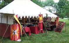 "roman legion tents   Look for the ""Roman Building"" Tent!"