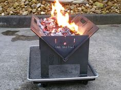 The Wedge Fire Pit - Slot Me In.com.au
