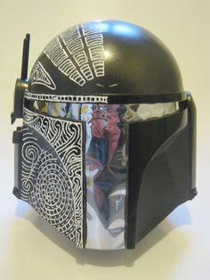 Maori inspired Mandalorian helmet for Temuera Morrison