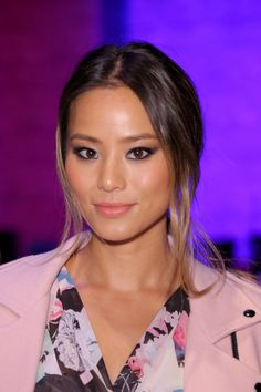 Jamie Chung at the Spring 2015 Rebecca Minkoff Show. Makeup by Hung Vanngo.