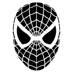 Spiderman Facesolid Vinyl Decal Sticker  BallzBeatz . com Stencil Patterns, Stencil Art, Stencils, Car Decals, Vinyl Decals, Super Hero Shirts, Vinyl Shirts, Silhouette Cameo, Coloring Books