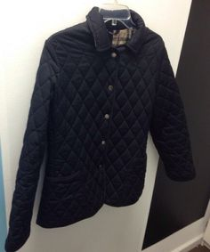 M Burberry Quilted Black Jacket #Burberry #ClassicJacket