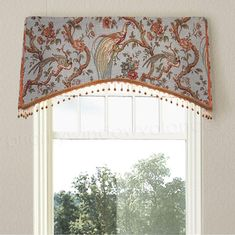 The arched kick pleat valance is board-mounted and features either a or return as needed. Each cornice board… Bathroom Window Coverings, Bathroom Window Curtains, Valance Window Treatments, Bathroom Windows, Custom Window Treatments, Window Valances, Curtain Valances, Window Blinds, Curtain Rods