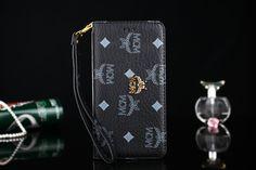 手帳エムシーエムアイフォン7/7Plus携帯カバーカード収納ストラップ付きゴールド色シルバー