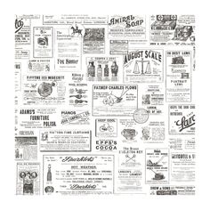 have provincial vintage newspaper wallpaper stand out with minimalist decor to make a chic room design