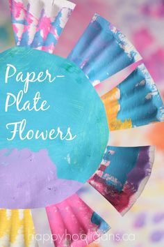 Paper Plate Flowers - a spring craft for toddlers and preschoolers - Happy Hooligans
